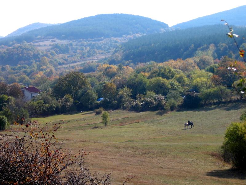 Пейзаж от Драгоил, северният склон на рида Лагатерица