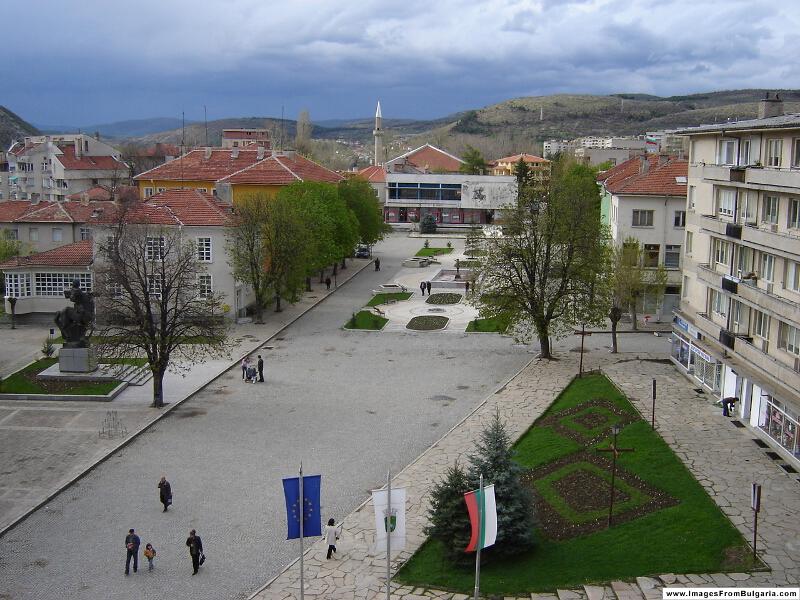 Изглед на Крумовград, централната част