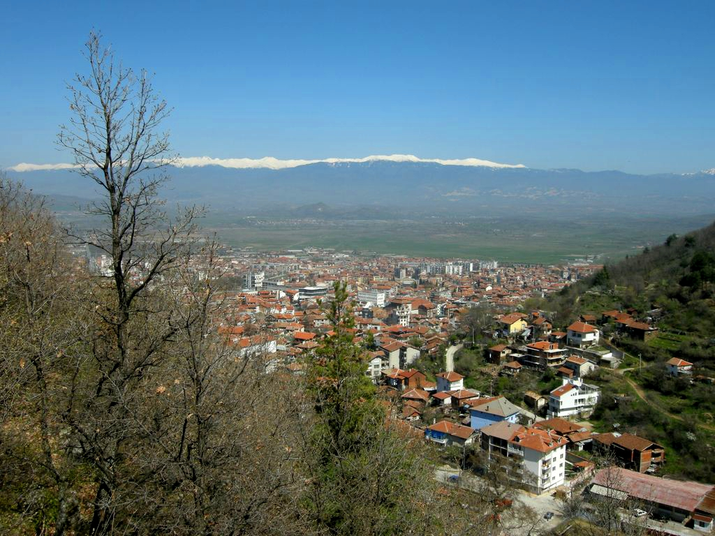 Изглед на град Петрич