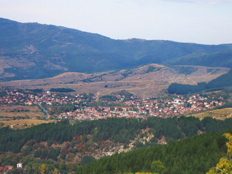 Село Сапарево,изглед от югозапад