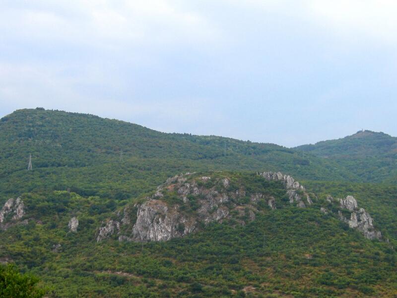 """Крепостта """"Кричим"""" (Голямото кале), изглед от града"""