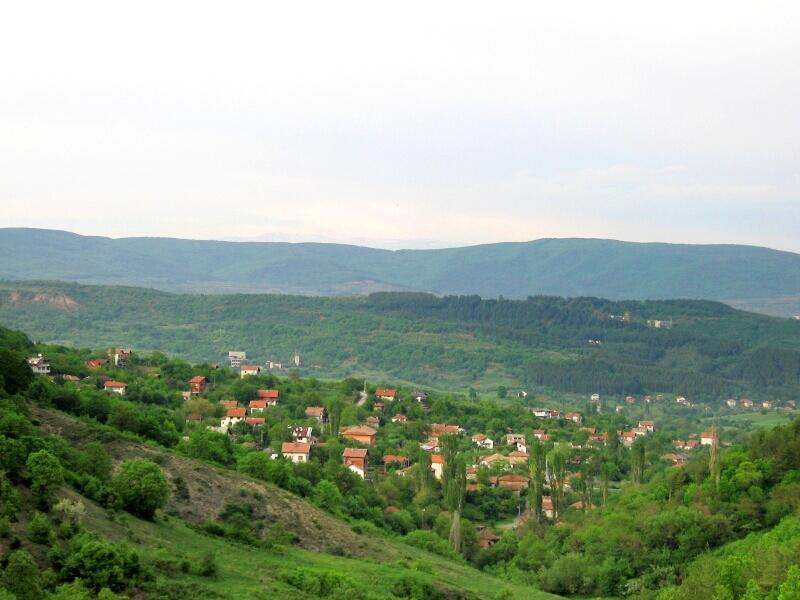 Изглед на селото от запад