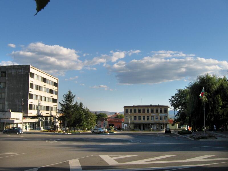Центърът на града