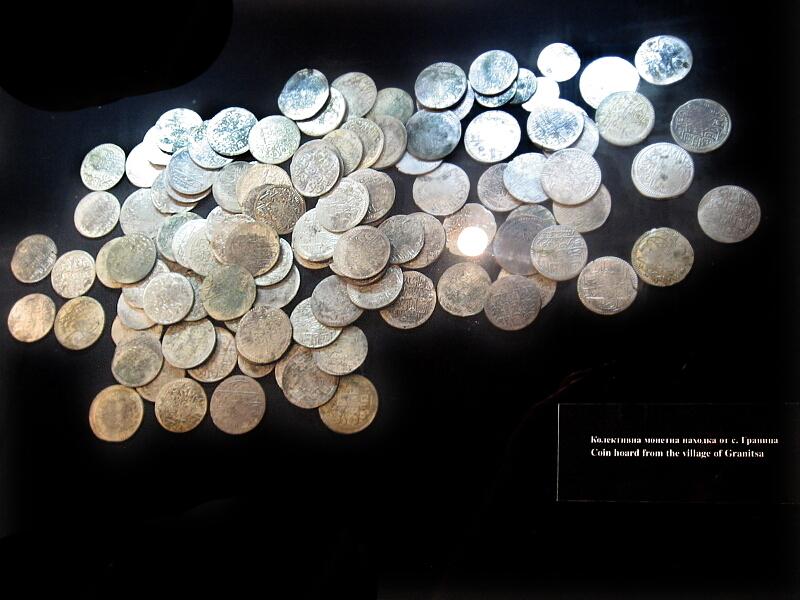 Колективна монетна находка от района на с. Граница (експонат в РИМ Кюстендил)
