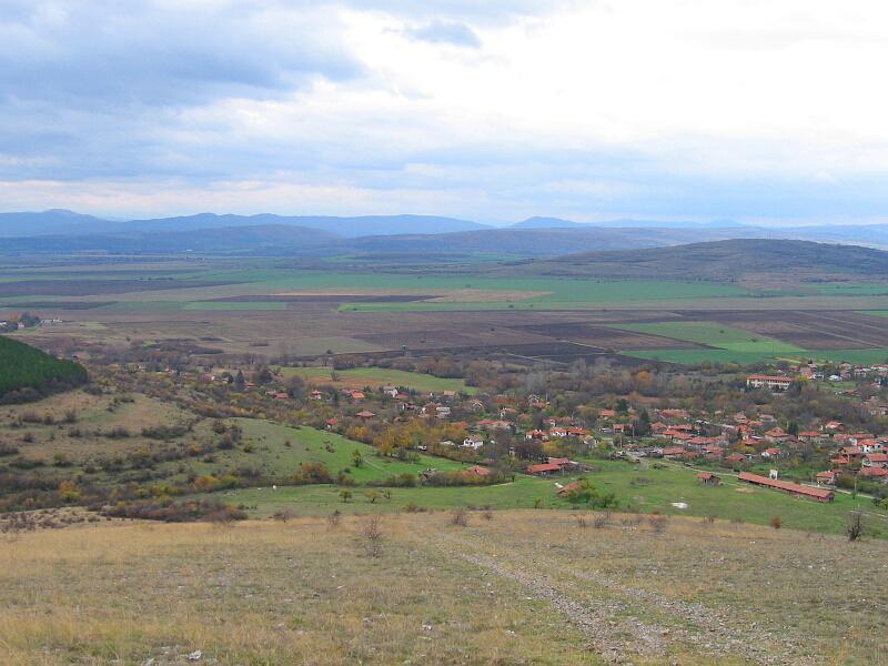 Южната част на селото - предишният Горни Раковец