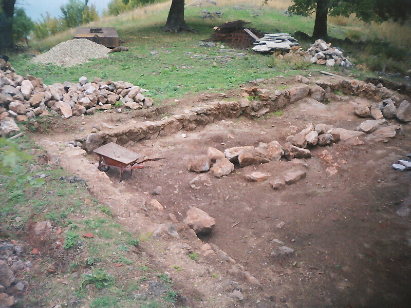 Руините на средновековния Руенски манастир, върху които е изграден днешният