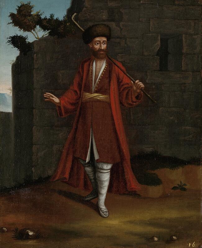 Български овчар, фрагмент от картина от Ж. Б. Ванмур, XVII в.