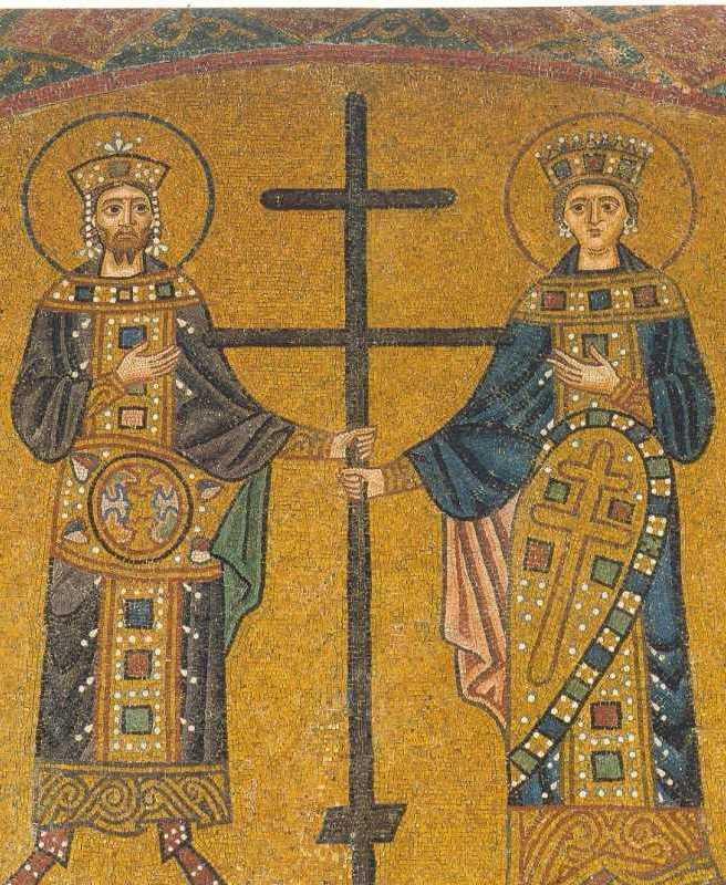 Император Константин и неговата майка Елена, канонизирани за светци