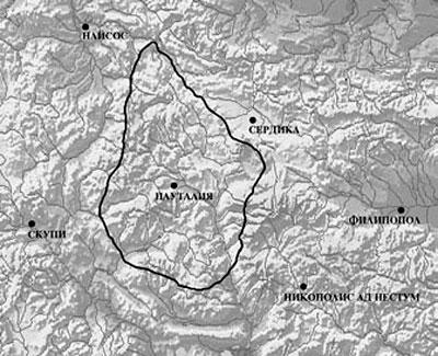 Предполагаем обхват на Градска територия на Пауталия