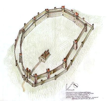 Графична възстановка на крепостта
