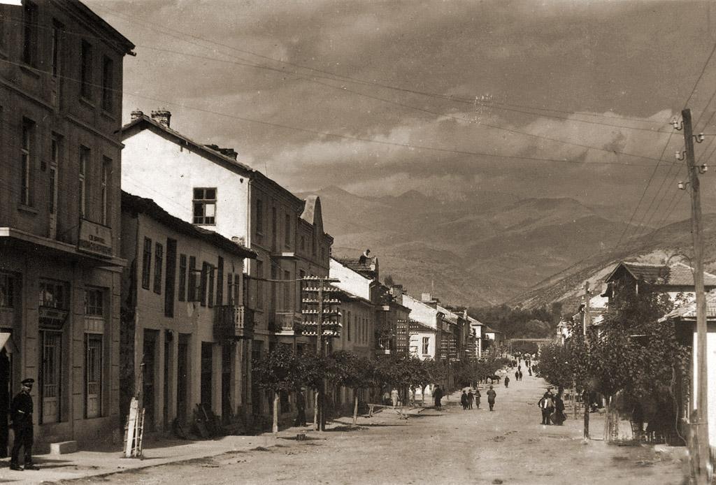 Сандански през 30-те години на XX в.,главната улица