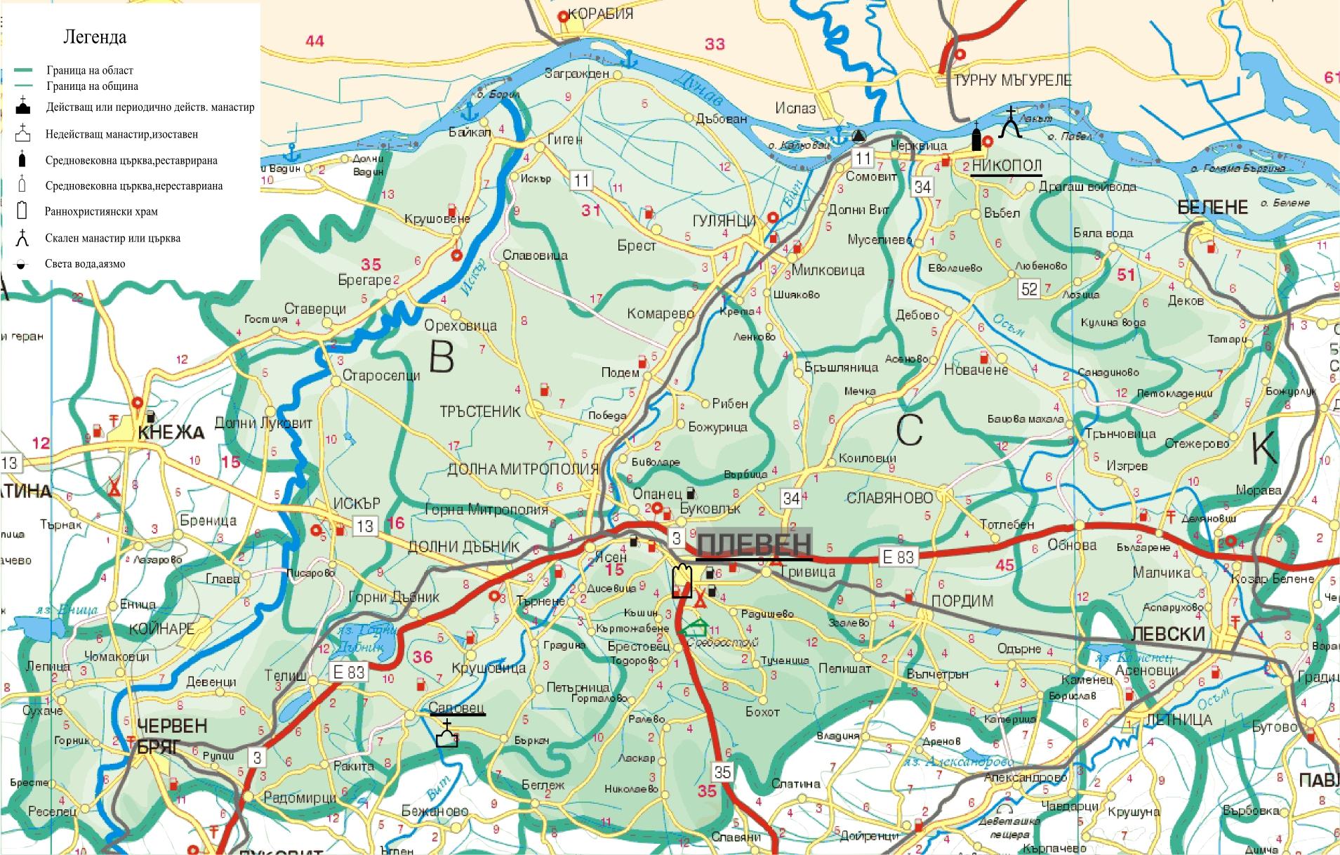 Plevenska Oblast Sveti Mesta