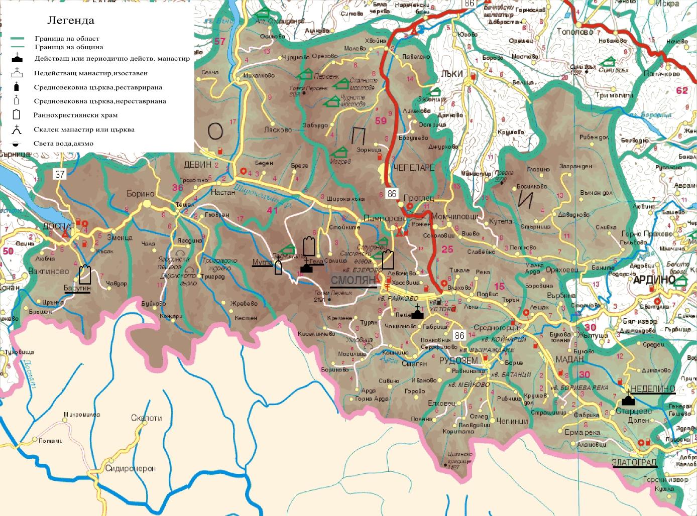Smolyanska Oblast Sveti Mesta